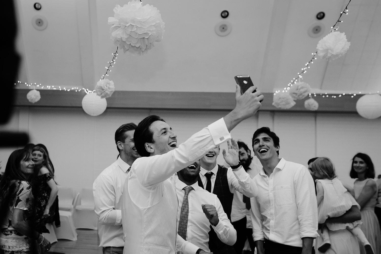 fun groom selfie