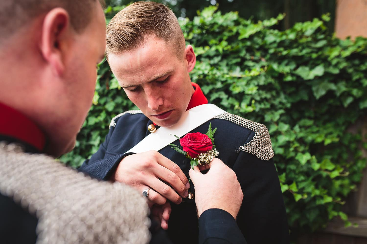 Handsome groom prepares for big day by chapter one photography