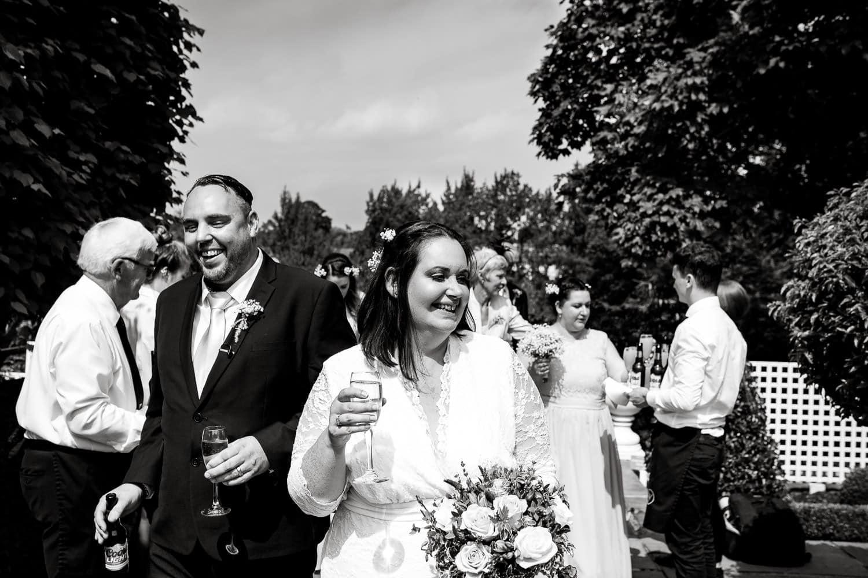 warwick house wedding hosts happy bride and groom