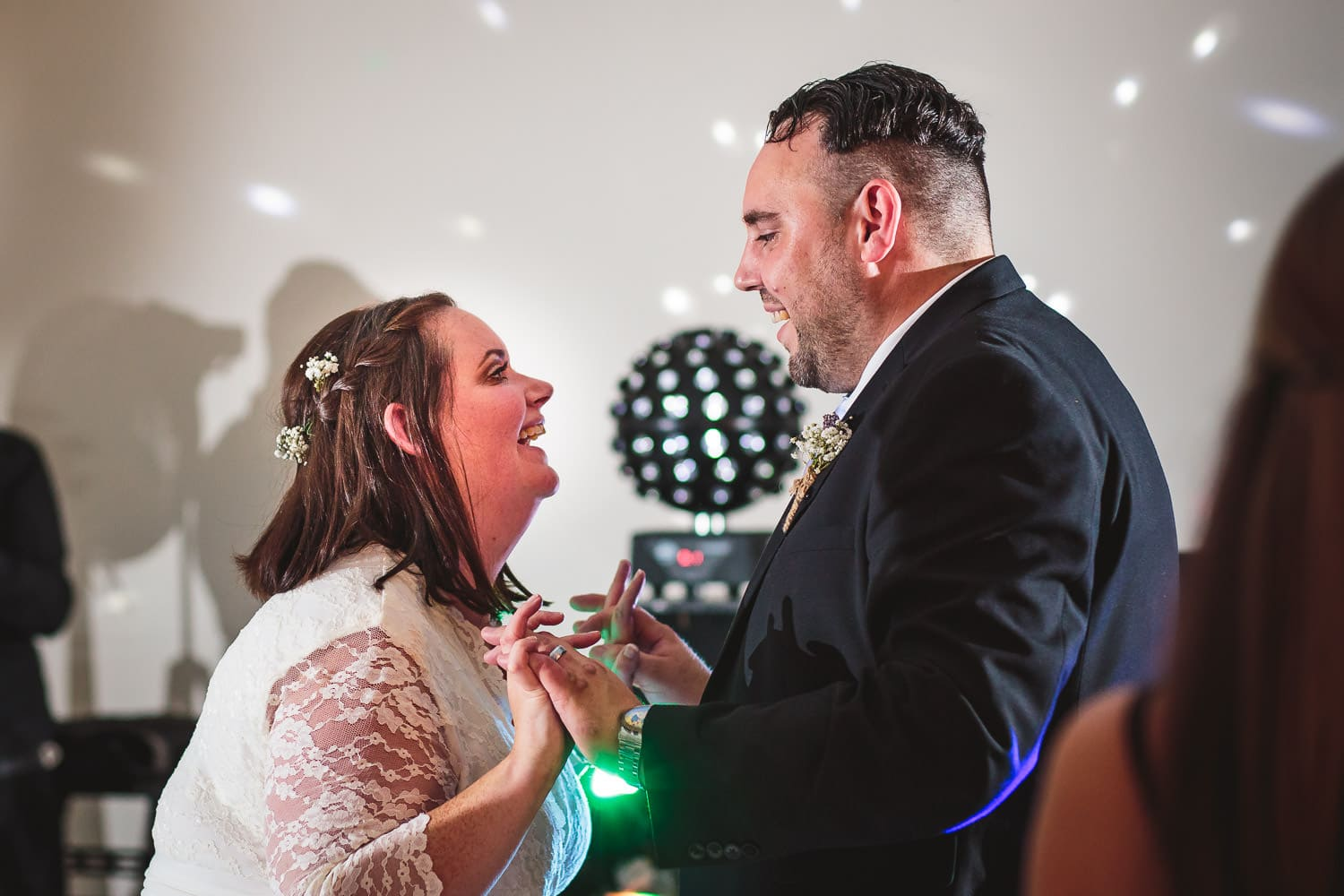 warwickshire newlyweds dance during reception at warwick house wedding