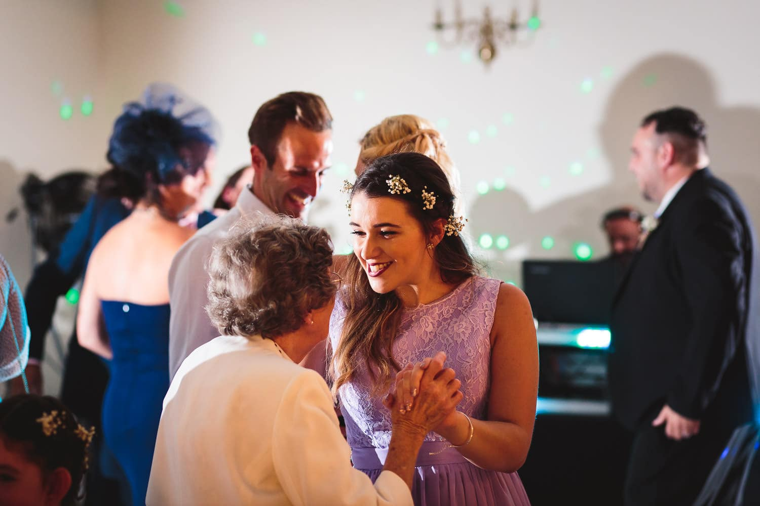 cute picture of family dancing at warwick house wedding