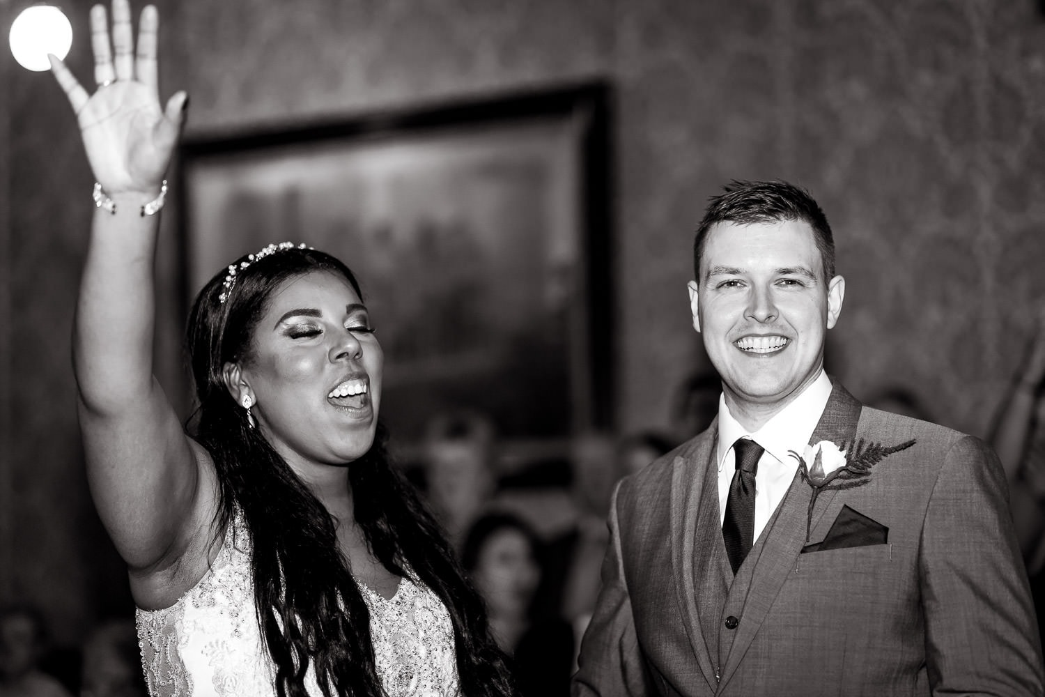 couple in getting married at highbury hall in birmingham