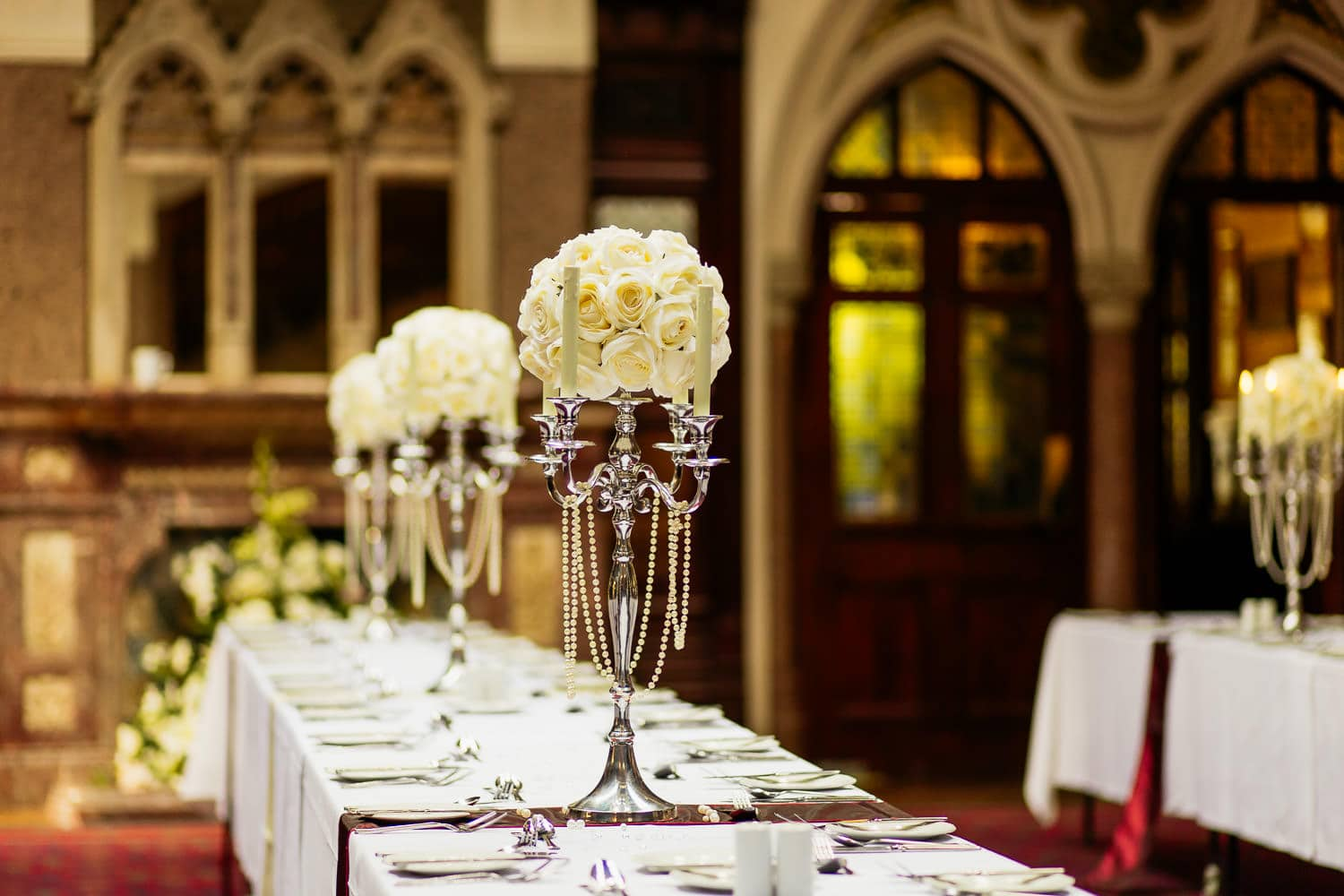 highbury hall wedding photography picture of table decorations