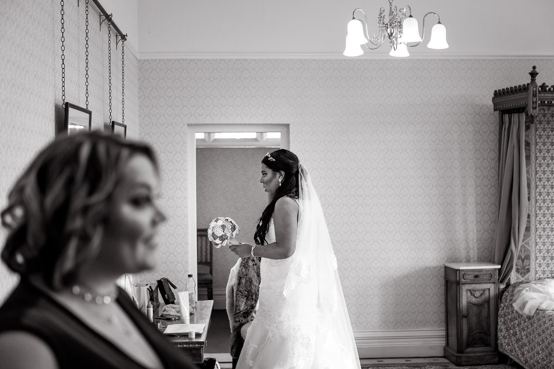 last moments of bridal preparations captured during highbury hall wedding photography