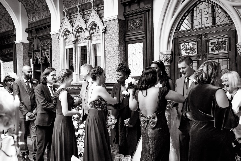 Highbury Hall receiving line after wedding ceremony