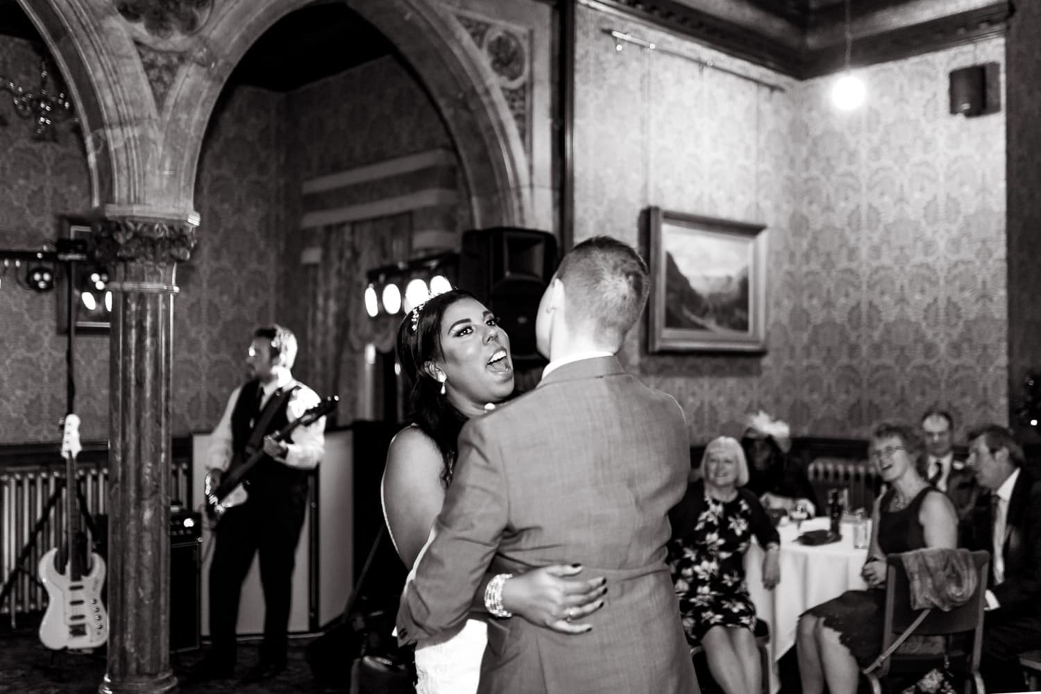 bride and grooms first dance as husband and wife