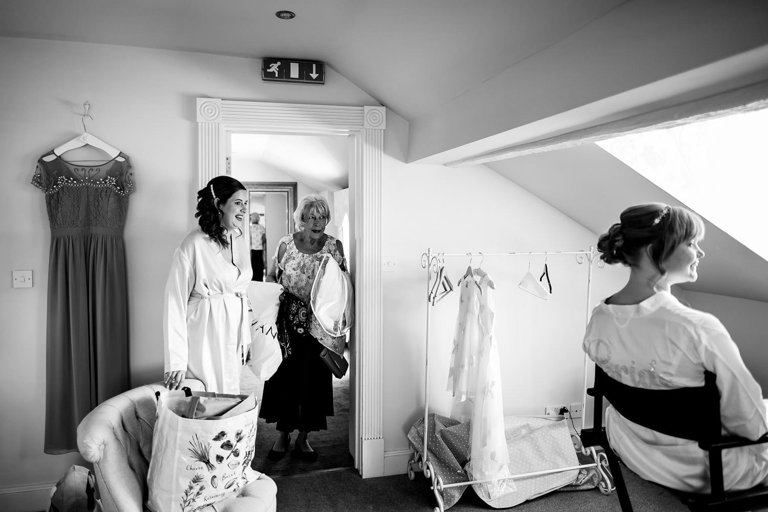 Warwick House Wedding Photography captures grandmothers first look of the bride