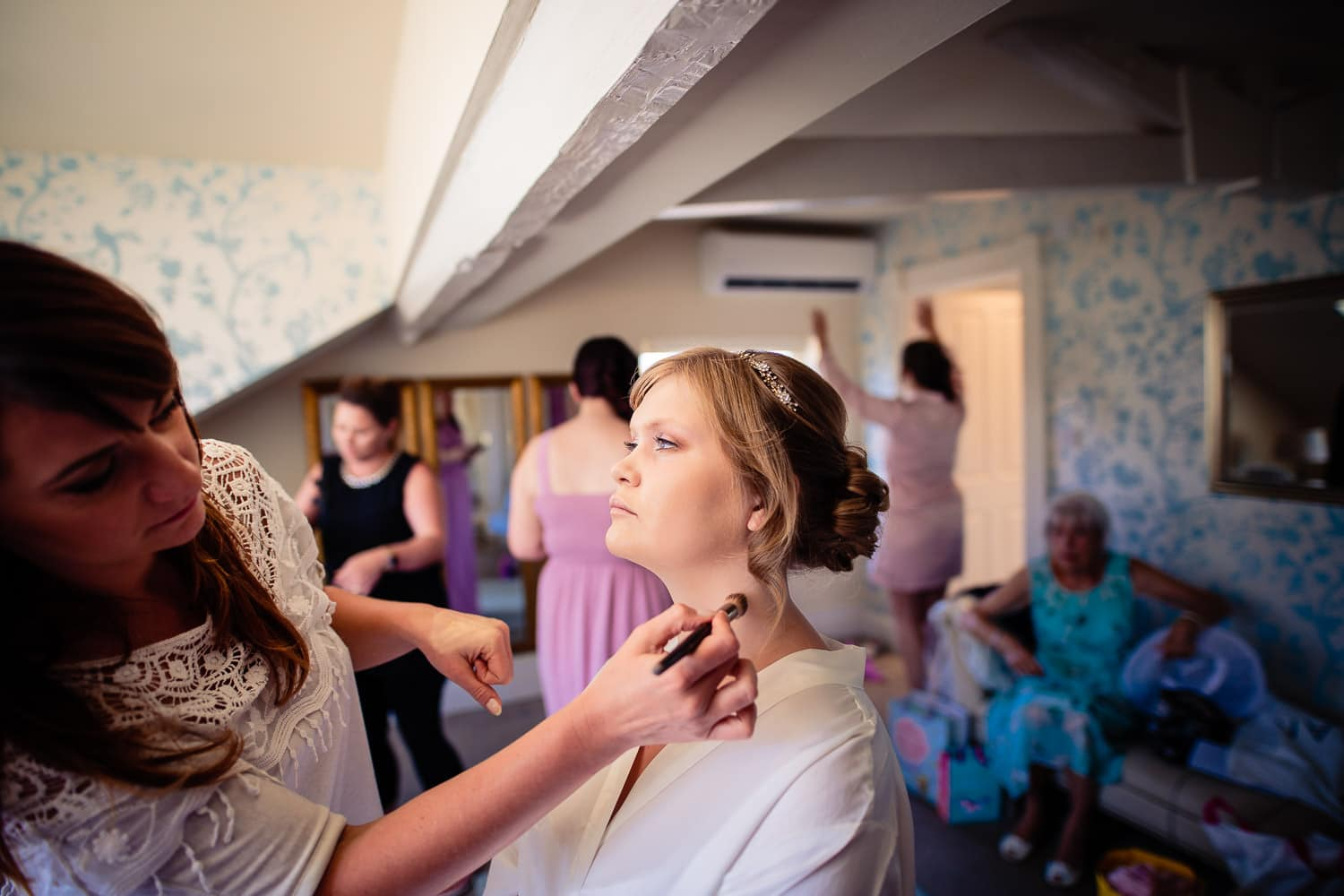 Beautiful Warwick House Wedding Photography captures bridal preparations