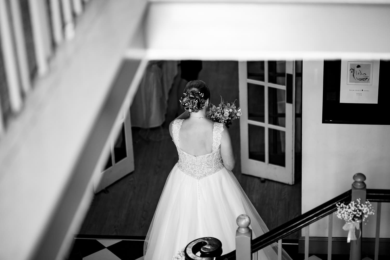 Warwick House Wedding Photography captures bride composing herself just before the ceremony