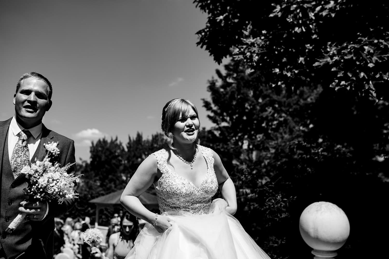 Warwick House Wedding Photography with happy newlyweds in Warwickshire
