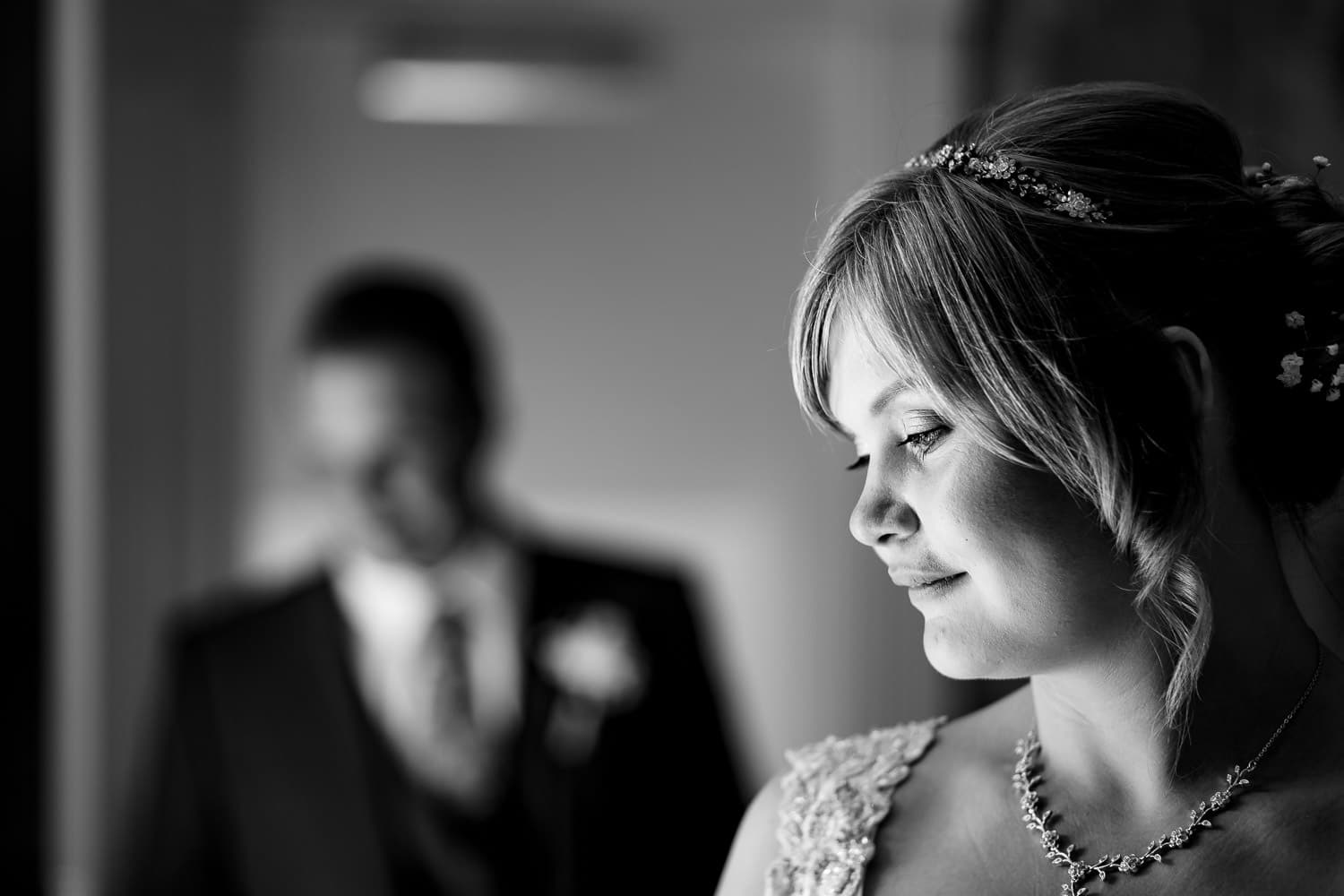 Chapter One Photography captures a quite moment with the bride and groom during portrait session