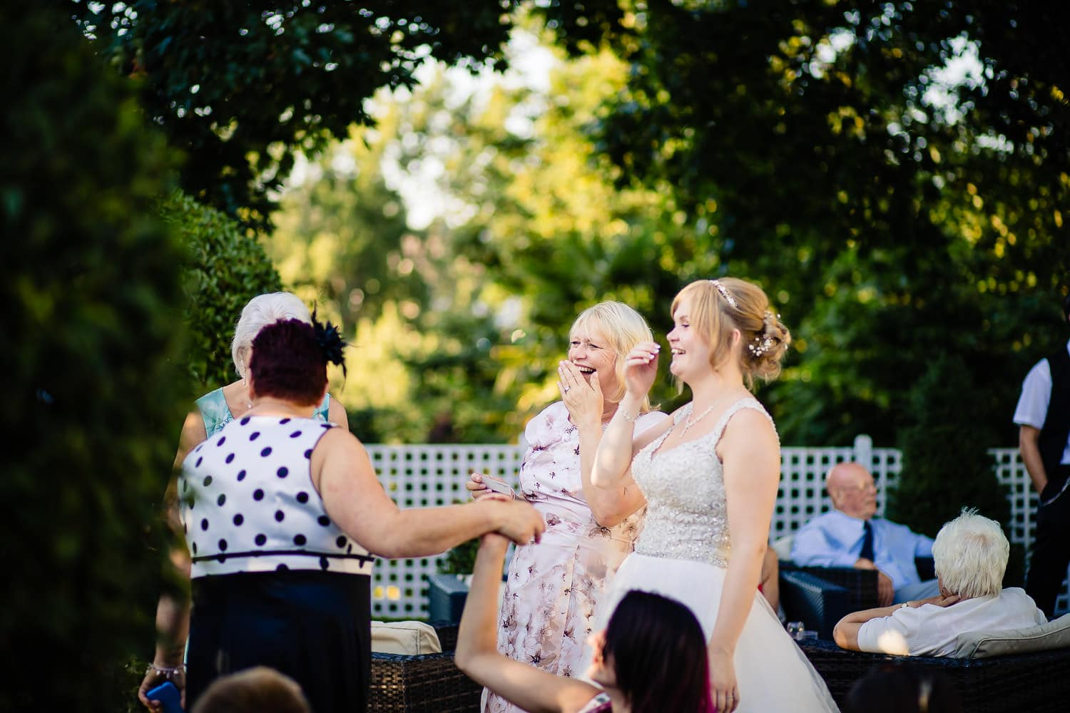 Warwick House Wedding Photography capures laughting and smiling warwickshire ladies