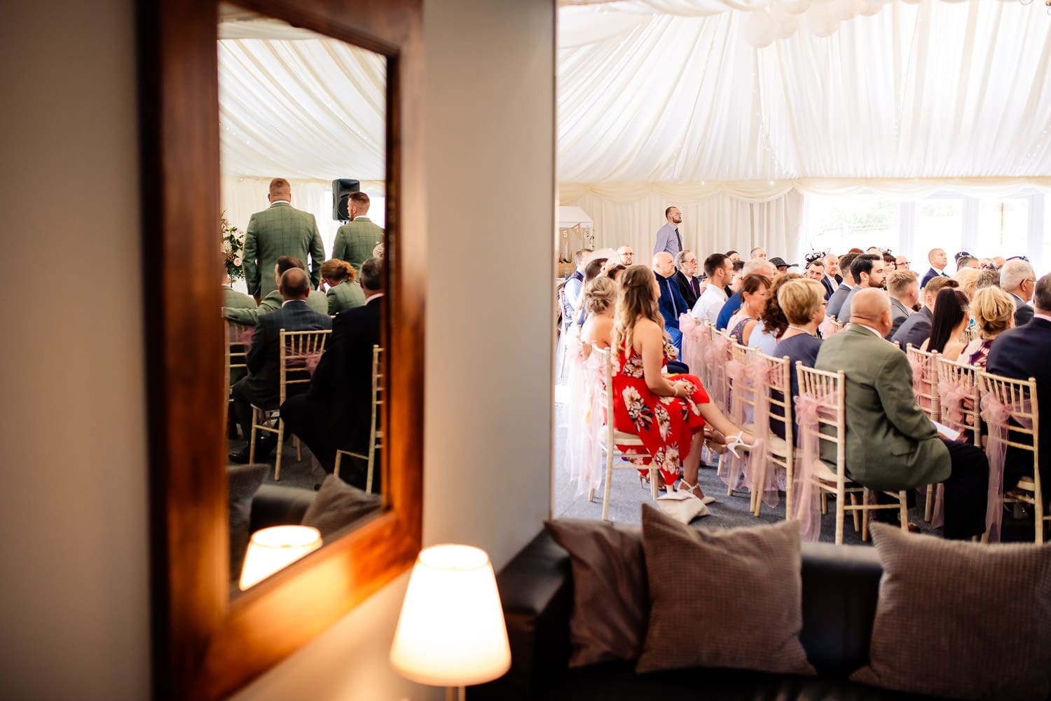 The Granary at Fawsley Wedding ceremony by chapter one photography