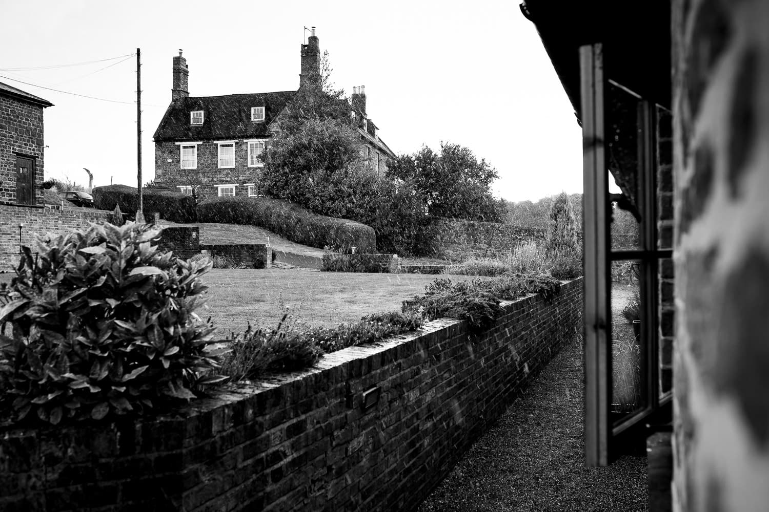 A rainy day at The Granary at Fawsley Wedding venue