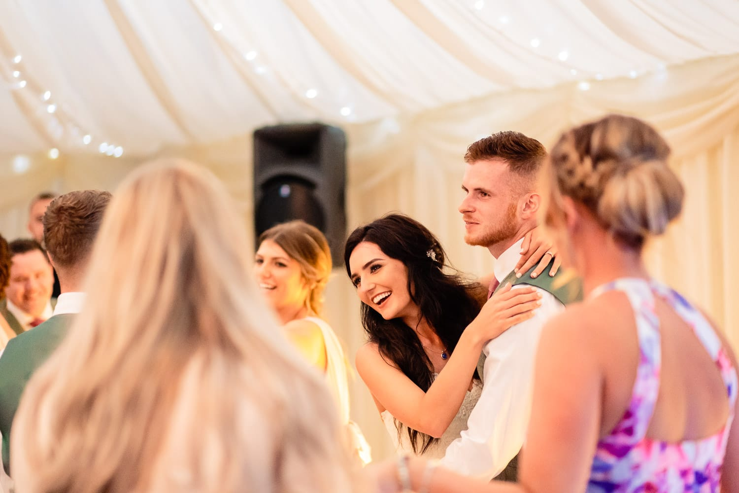 northamptons best wedding photographers capture first dance at The Granary at Fawsley Wedding barn