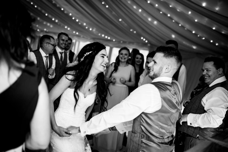 warwickshires best wedding photographers capture first dance at wedding