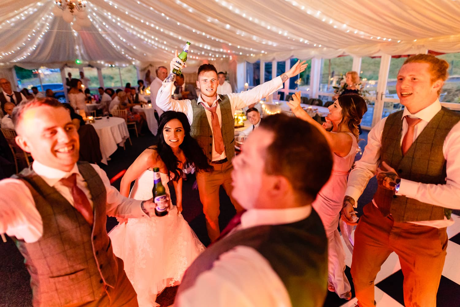 The Granary at Fawsley Wedding dance floor by chapter one photography