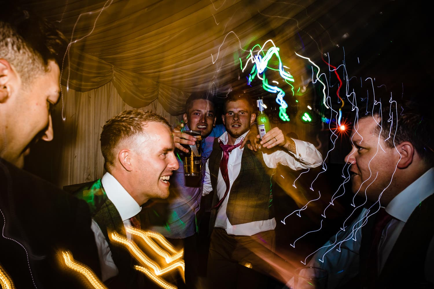 party on the dance floor captured by The Granary at Fawsley Wedding photography