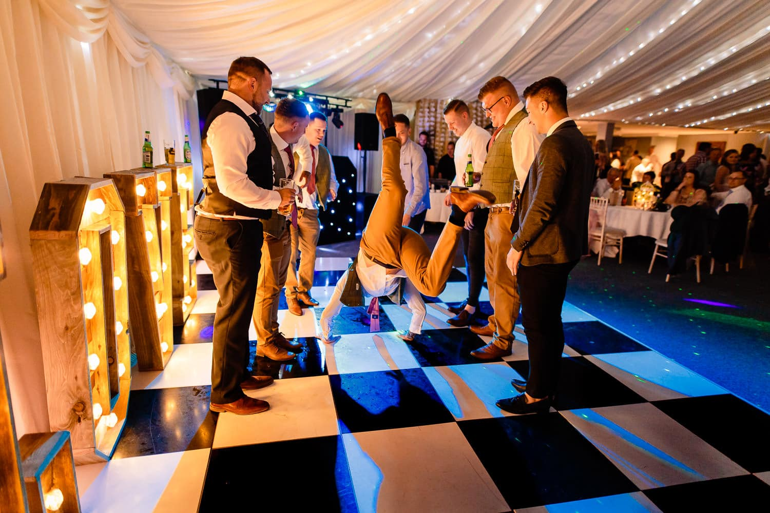 The Granary at Fawsley Wedding party in full swing by chapter one photography