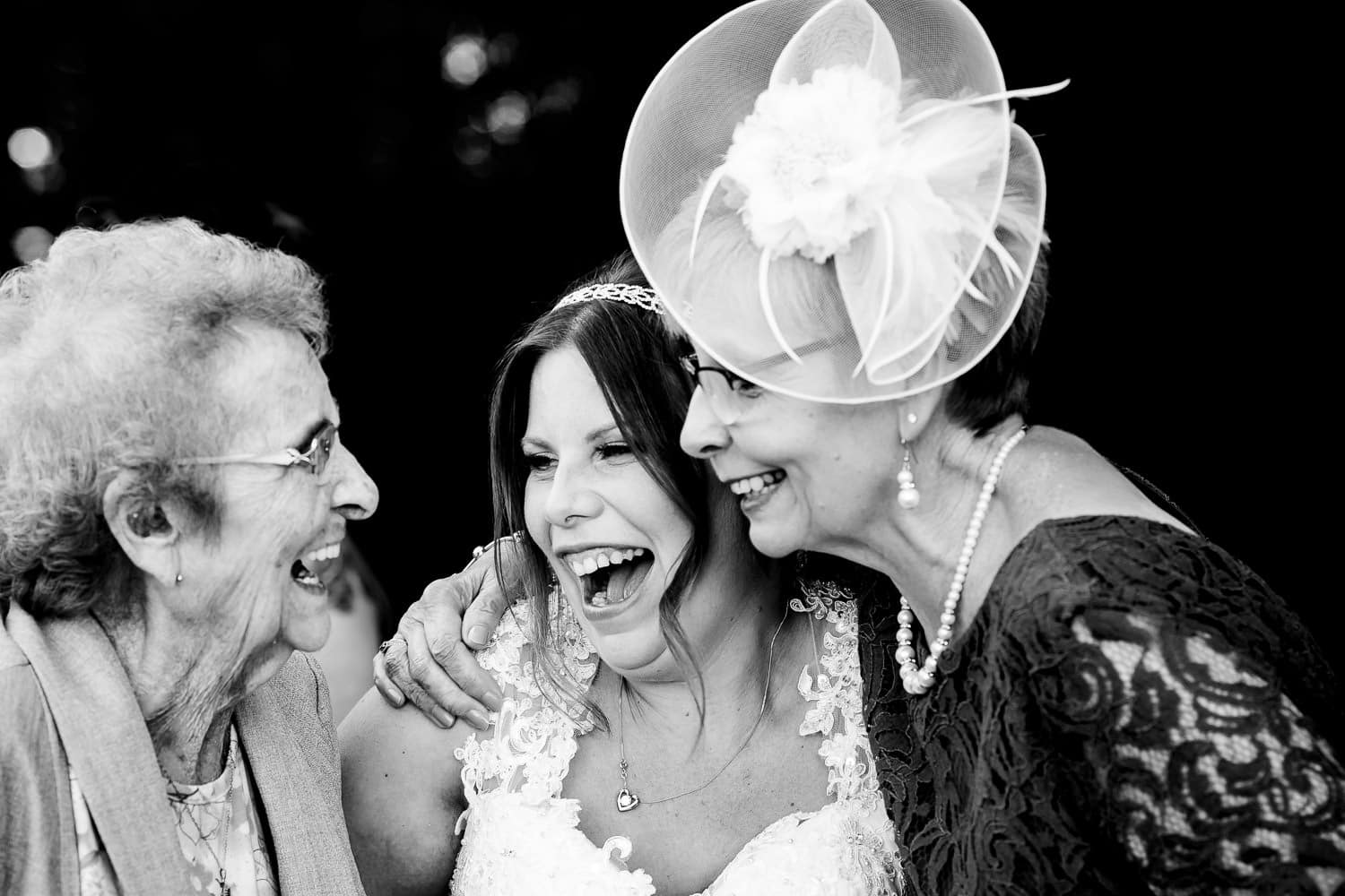 chapter one wedding photography captures happy bride with guests
