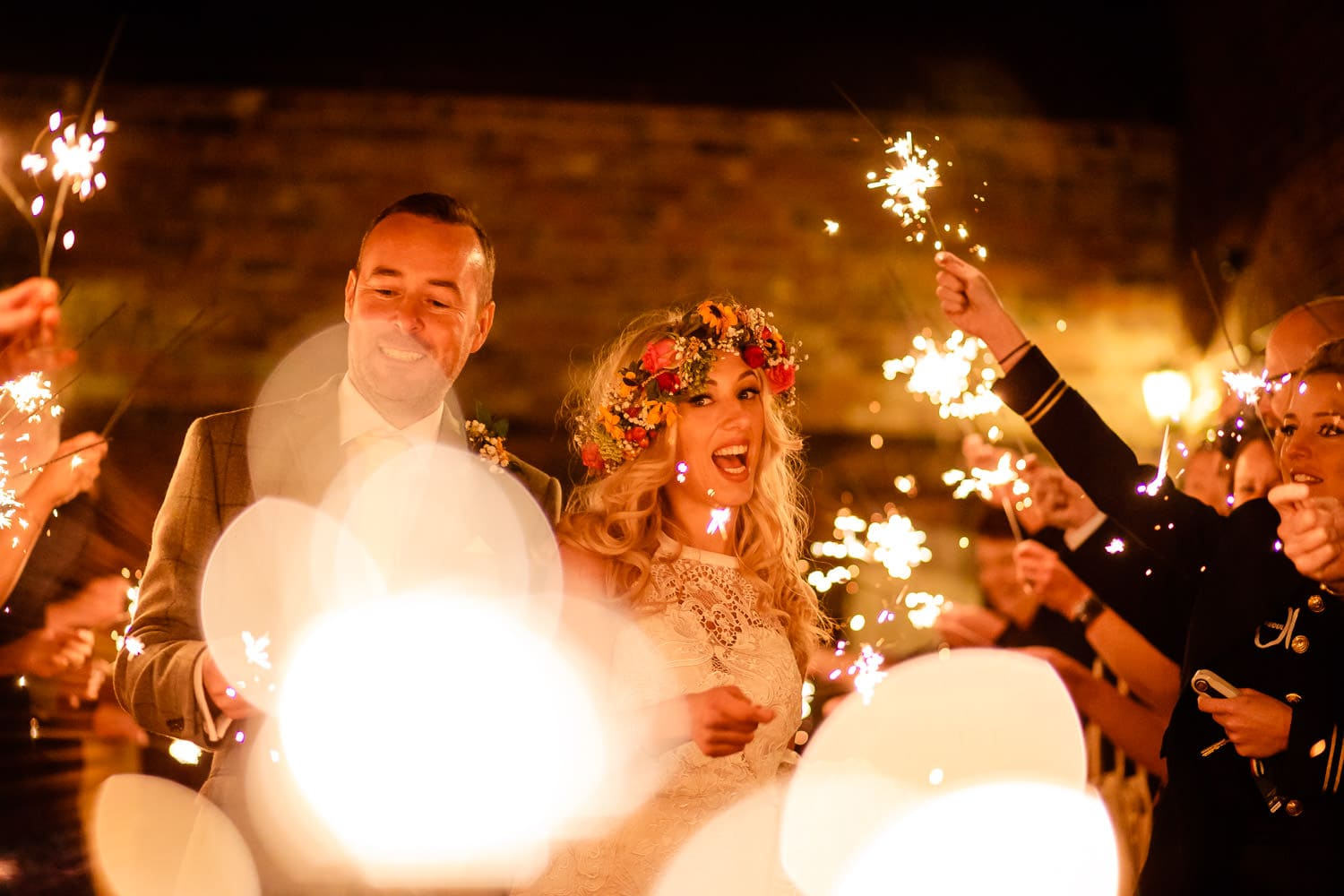 wedding photography sparkler examples